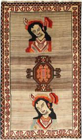 Ghashghai Matto 127X220 Itämainen Käsinsolmittu Vaaleanruskea/Tummanpunainen (Villa, Persia/Iran)