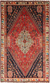 Qashqai Rug 164X266 Authentic  Oriental Handknotted Dark Red/Rust Red (Wool, Persia/Iran)