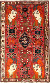 Qashqai Rug 143X232 Authentic  Oriental Handknotted Rust Red/Dark Red (Wool, Persia/Iran)