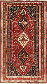 Qashqai Rug 154X270 Authentic  Oriental Handknotted Dark Red/Light Brown (Wool, Persia/Iran)