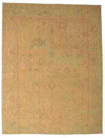 Oushak Rug 384X484 Authentic  Oriental Handknotted Light Brown/Dark Beige Large (Wool, Turkey)
