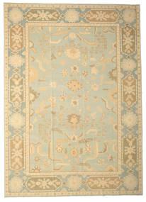 Usak Teppich  333X465 Echter Orientalischer Handgeknüpfter Dunkel Beige/Beige Großer (Wolle, Türkei)