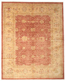 Oushak Rug 320X396 Authentic  Oriental Handknotted Light Brown/Light Pink Large (Wool, Turkey)