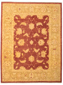 Oushak Rug 300X395 Authentic  Oriental Handknotted Light Brown/Orange Large (Wool, Turkey)