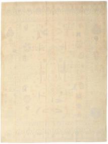 Oushak Rug 260X341 Authentic  Oriental Handknotted Dark Beige/Light Brown Large (Wool, Turkey)