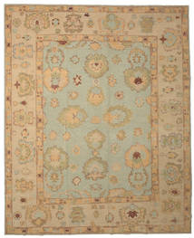Oushak Rug 314X385 Authentic  Oriental Handknotted Light Brown/Light Grey Large (Wool, Turkey)