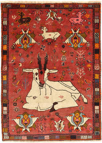 Qashqai Rug 108X148 Authentic  Oriental Handknotted Rust Red/Dark Red (Wool, Persia/Iran)