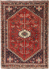 Qashqai Rug 112X158 Authentic  Oriental Handknotted Rust Red/Dark Red (Wool, Persia/Iran)