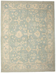Oushak Rug 337X437 Authentic Oriental Handknotted Light Grey/Light Brown Large (Wool, Turkey)