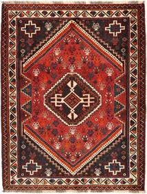 Qashqai Rug 122X160 Authentic  Oriental Handknotted Dark Red/Black (Wool, Persia/Iran)