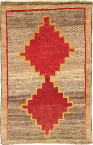Qashqai Rug 96X153 Authentic Oriental Handknotted Light Brown/Rust Red (Wool, Persia/Iran)
