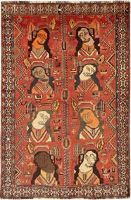 Gashgai Alfombra 123X191 Oriental Hecha A Mano Marrón Oscuro/Roja (Lana, Persia/Irán)