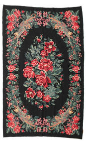 Kilim Rose Moldavia Alfombra 164X264 Oriental Tejida A Mano Negro/Gris Claro (Lana, Moldavia)