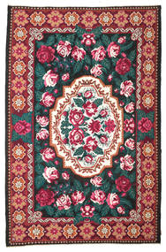 Rose Kelim Moldavia Rug 230X350 Authentic  Oriental Handwoven Beige/Black (Wool, Moldova)