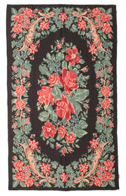 Rose Kelim Moldavia Rug 163X273 Authentic  Oriental Handwoven Dark Grey/Light Grey (Wool, Moldova)
