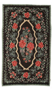 Rose Kelim Moldavia Rug 154X258 Authentic  Oriental Handwoven Dark Brown/Dark Grey (Wool, Moldova)