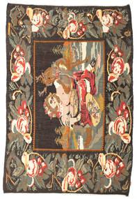 Ruusukelim Moldavia Matto 194X280 Itämainen Käsinkudottu Tummanharmaa/Beige (Villa, Moldova)