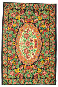 Rose Kelim Moldavia Rug 230X347 Authentic  Oriental Handwoven Dark Grey/Orange (Wool, Moldova)
