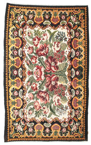 Rose Kelim Moldavia Rug 189X307 Authentic  Oriental Handwoven Dark Grey (Wool, Moldova)