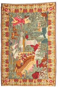 薔薇 キリム Moldavia 絨毯 225X335 オリエンタル 手織り 暗めのベージュ色の/薄茶色 (ウール, モルドバ)