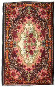 Rose Kelim Moldavia Rug 244X390 Authentic Oriental Handwoven Black/Dark Red (Wool, Moldova)