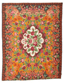 Rose Kelim Moldavia Rug 214X276 Authentic  Oriental Handwoven Crimson Red/Brown (Wool, Moldova)