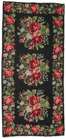 Rose Kelim Moldavia Rug 180X385 Authentic  Oriental Handwoven Black/Dark Brown (Wool, Moldova)