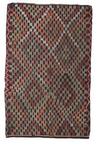 Kelim Semiantik Tyrkiet Tæppe 162X255 Ægte Orientalsk Håndvævet Mørkeblå/Mørkebrun (Uld, Tyrkiet)