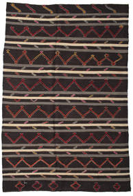 Kilim Semi Antique Turkish Rug 245X358 Authentic  Oriental Handwoven Black/Light Brown (Wool, Turkey)