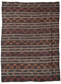 Kelim Halbantik Türkei Teppich  240X315 Echter Orientalischer Handgewebter Dunkelblau/Hellbraun/Dunkelbraun (Wolle, Türkei)