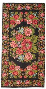 Rosenkelim Moldavia Matta 198X400 Äkta Orientalisk Handvävd Svart/Mörkbrun (Ull, Moldavien)