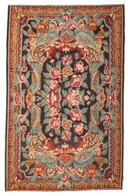 Rose Kelim Moldavia Rug 213X344 Authentic  Oriental Handwoven Brown/Dark Brown (Wool, Moldova)