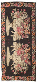 Rose Kelim Moldavia Rug 173X390 Authentic  Oriental Handwoven Hallway Runner  Dark Brown/Light Brown/Brown (Wool, Moldova)