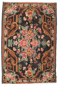 Rose Kelim Moldavia Rug 184X277 Authentic  Oriental Handwoven Black/Dark Grey (Wool, Moldova)