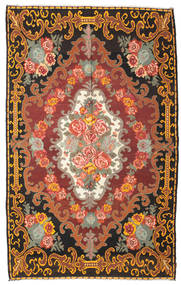 Rose Kelim Moldavia Rug 219X351 Authentic  Oriental Handwoven Dark Brown/Orange (Wool, Moldova)