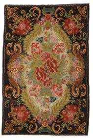 Rose Kelim Moldavia Rug 194X297 Authentic  Oriental Handwoven Black/Rust Red (Wool, Moldova)