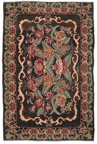Rose Kelim Moldavia Rug 186X280 Authentic  Oriental Handwoven Dark Brown/Olive Green (Wool, Moldova)