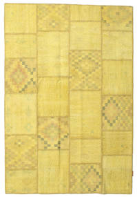 Patchwork Rug 157X232 Authentic  Modern Handknotted Yellow (Wool, Turkey)