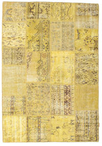 Patchwork Rug 159X232 Authentic  Modern Handknotted Yellow (Wool, Turkey)