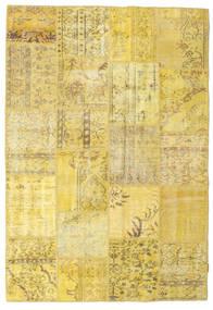 パッチワーク 絨毯 157X230 モダン 手織り 黄色 (ウール, トルコ)