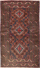 Baluch Rug 115X194 Authentic  Oriental Handknotted Brown/Dark Blue (Wool, Afghanistan)