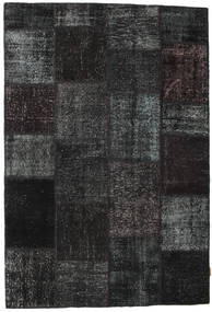 Patchwork Rug 157X230 Authentic  Modern Handknotted Black/Dark Grey (Wool, Turkey)