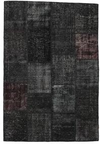 Patchwork Tapis 158X232 Moderne Fait Main Noir/Gris Foncé (Laine, Turquie)