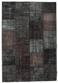 Patchwork Rug 158X230 Authentic  Modern Handknotted Black/Dark Grey (Wool, Turkey)