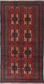 Beluch Vloerkleed 116X203 Echt Oosters Handgeknoopt Donkerrood/Donkerbruin (Wol, Afghanistan)
