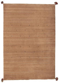 Loribaf Loom Rug 137X198 Authentic Modern Handknotted Light Brown/Brown (Wool, India)