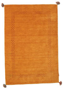 Loribaf Loom Rug 3′11″x5′10″ Authentic  Modern Handknotted Orange/Brown (Wool, India)