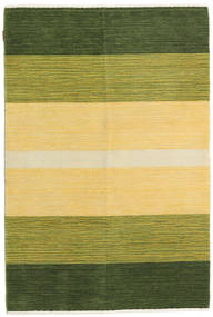 Loribaf Loom Rug 120X178 Authentic  Modern Handknotted Olive Green/Yellow/Dark Green (Wool, India)