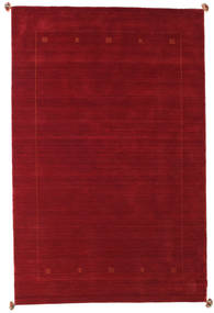 Loribaf Loom Rug 188X287 Authentic  Modern Handknotted Dark Red/Crimson Red (Wool, India)