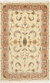 Tabriz 50 Raj Met Zijde Vloerkleed 102X165 Echt Oosters Handgeknoopt Lichtbruin/Beige (Wol/Zijde, Perzië/Iran)